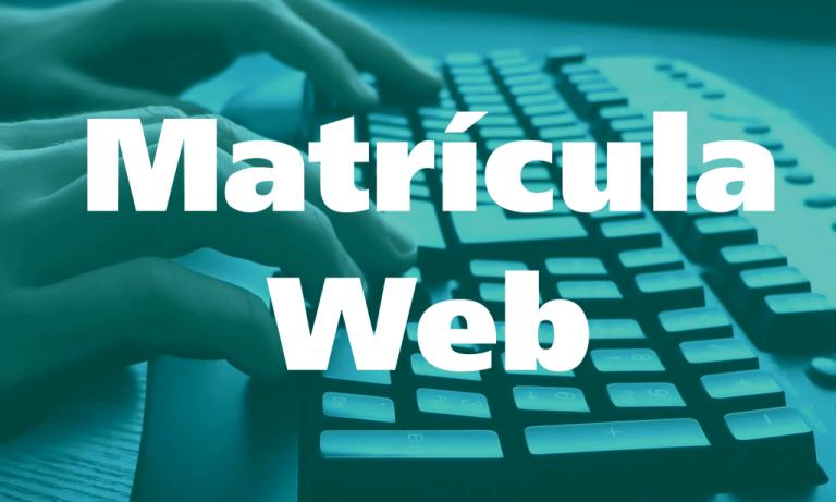 Matrícula WEB 2022
